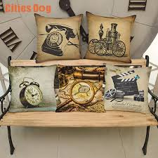 christmas decorations for home decorative pillows cushion vintage christmas decorations for home decorative pillows cushion vintage telephone alarm clock pattern pillowcase pillow almofadas in bedding pillows from home