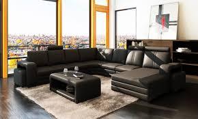 grand canap angle pas cher grand salon achat vente canapé en cuir ravenne u lecoindesign
