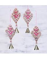 here s a great price on ornaments green hearts set of 4 india