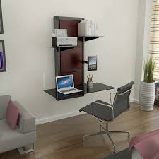 Compact Modern Desk Trendy Idea Computer Shelves Wall Mount Modern Mounted Floating