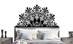 elegant headboard decal 25 color options all sizes eyval decal elegant headboard decal vinyl wall sticker