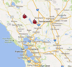 Cal Map Monticello Fire Forces Evacuation Of Homes Near Lake Berryessa