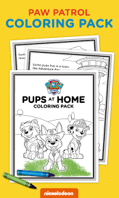 exclusive pups coloring pack paw patrol pups nick jr