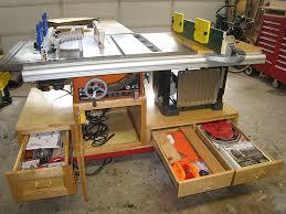 Table Saw Cabinet Plans Workshop Organization Mobile Workshop