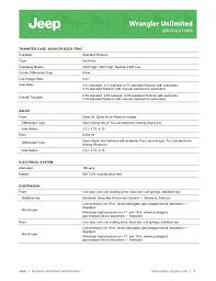 2015 jeep wrangler unlimited specifications information brochure ne