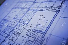 Blueprint Floor Plans Blue Print Stock Photo Picture And Royalty Free Image Image 4718083