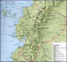 Physical Map South America by Ecuador Map South America