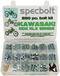 250pc bolt kit kawasaki kdx klx 175 200 220 225 250 klr 110
