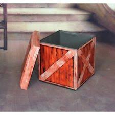 rustic primitive storage ottomans ebay