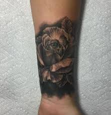 custom black and gray rose tattoo custom tattoos pinterest