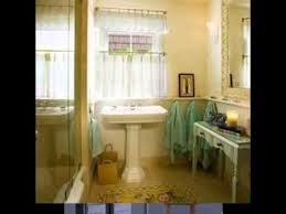 diy bathroom window curtain decorating ideas youtube
