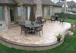 Outdoor Concrete Patio Designs Backyard Concrete Patio Ideas Designandcode Club