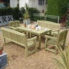 patio table and bench medium garden bench seat garden furniture tate fencing