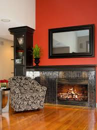 Home Decor Sales Magazines by Merrick Red Fireplace Tv Stand With Contemporary Insert Idolza