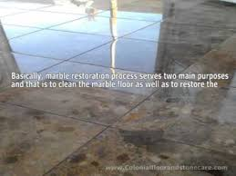 how to restore marble floors