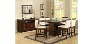 bar height glass table glass top counter height dining sets modern counter height dining