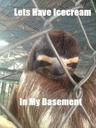 Sloth Asthma Meme - 12 best creepy sloth images on pinterest creepy sloth meme