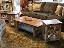 farmhouse coffee table set chunky farmhouse coffee table rustic home decor diy furniture