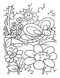 spring coloring sheets spring coloring pages for kids darach info