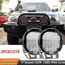 led work lights for trucks super bright 9 inch 320w red black led work lights for wrangler