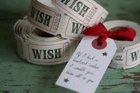a hundred wishes ticket rolls with ribbon tie chalk farm