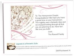 honeymoon wedding registry anniversarywishes registry