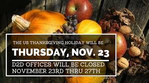 us thanksgiving hours for d2d draft2digital