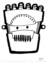 8 free robot halloween masks colorbook 4 nerdlings