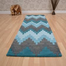 Blue Rug Runners For Hallways Matrix Cuzzo Hallway Runners Max21 Teal Free Uk Delivery The