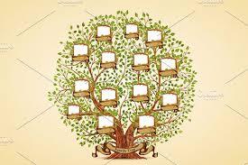 family tree template illustrations creative market