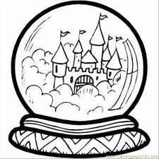 castle crystal ball coloring free buildings coloring