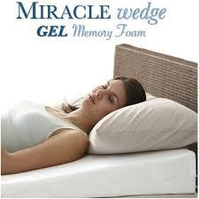 best bed wedge pillow amazon com gel memory foam wedge pillow for acid reflux cool