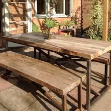 outdoor garden tables uk reclaimed bespoke garden sets planters