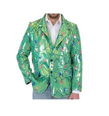 christmas suits sequin christmas lights green christmas suit