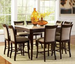 9 Pc Dining Room Set by Piece Faux Marble Top Dining Room Set In Dark Cherry Beyond Stores
