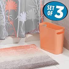 Salmon Colored Shower Curtain Coral Bath Accessories Amazon Com