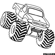 monster trucks color 42 coloring pages disney