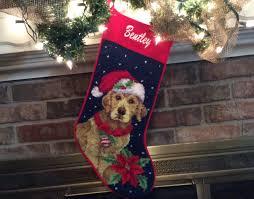 golden retriever personalized dog stocking christmas
