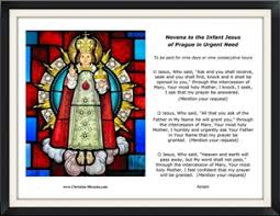 prayers to the infant jesus of prague signs wonders and miracles