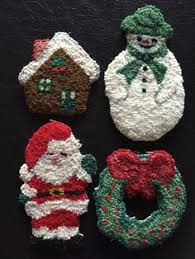 primitive hooked snowman ornament j574 by designsinwool on etsy
