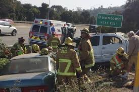 3 car crash results in 2 rollovers on northbound highway 101