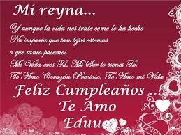 imagenes que digan feliz cumpleaños mi reina te amo mi reina postales de amor