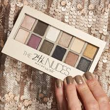 maybelline 24k eyeshadow palette review and swatches