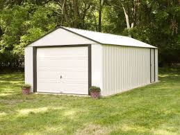 Overhead Doors For Sheds by Arrow Murryhill 12 Ft W X 24 Ft D Metal Garage Shed U0026 Reviews