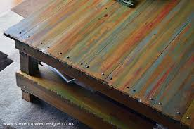 Reclaimed Boat Wood Furniture Large Handcrafted To Order Rustic Reclaimed Wood Coffee Table In