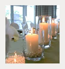 candle centerpieces diy pearl and candle centerpieces mon cheri bridals