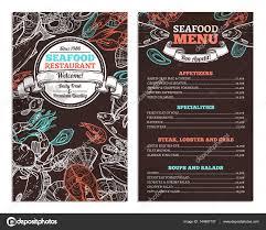seafood restaurant menu design u2014 stock vector alexrockheart