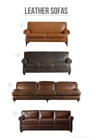 New Leather Sofas Decorating With Leather The New Sofa The Inspired Room