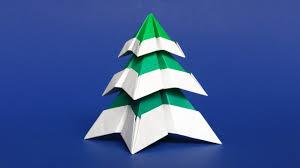origami christmas tree with snow easy diy paper christmas tree