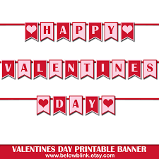 happy valentines day banner happy valentines day banner printable photo prop banner